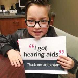 Brennen got his hearing aids