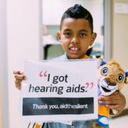 Jhojan was given hearing aids